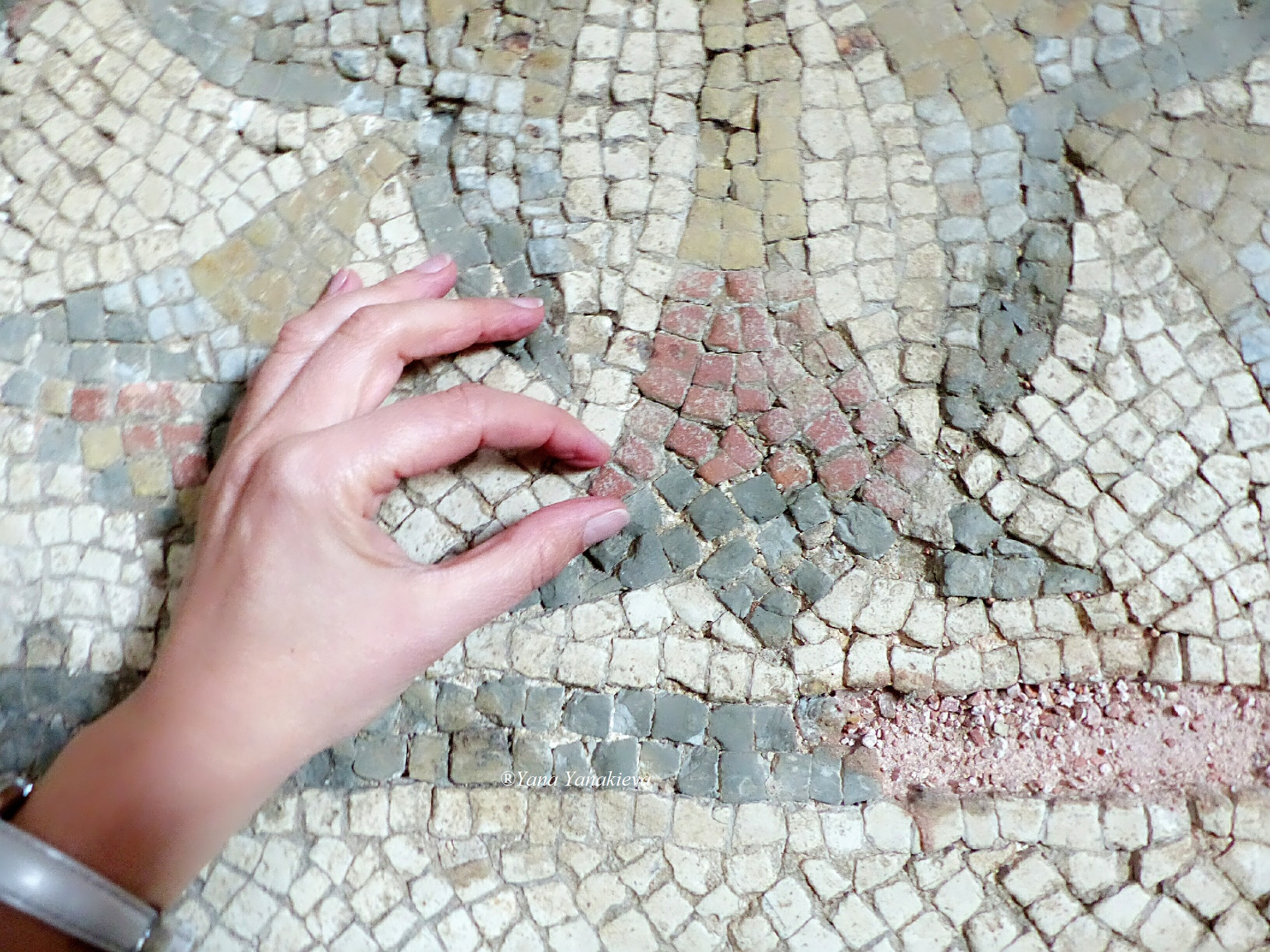 "With the little tesserae, a piece of the mosaic ""TO THE SWASTIKAS"", 27/11/18"